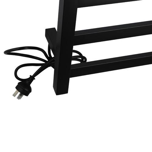 Expert Homewares Square Stainless Steel 9 Bar Electric Heated Towel Rack