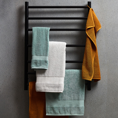 ACA Tapware Matte Black Stainless Steel 7 Bar Electric Heated Towel Rack