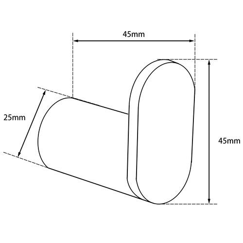 Expert Homewares Rumia Stainless Steel Robe Hook