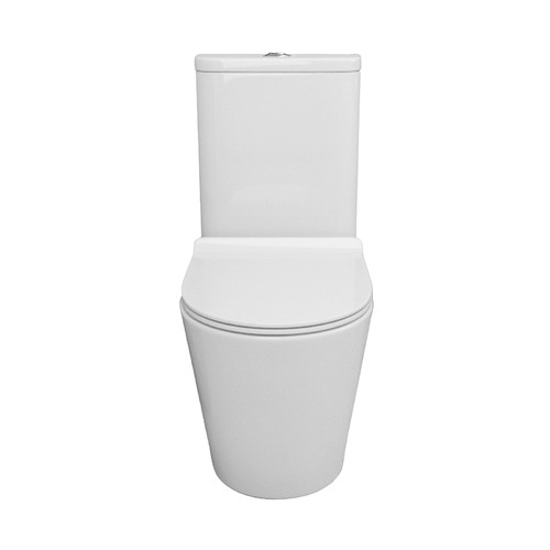 Expert Homewares Rimless White Ceramic Back-To-Wall Toilet Suite