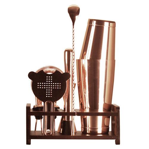 Rose Gold Cocktail Shaker Set SUS 304 Maker Mixer Strainer Bartender Kit 10pcs