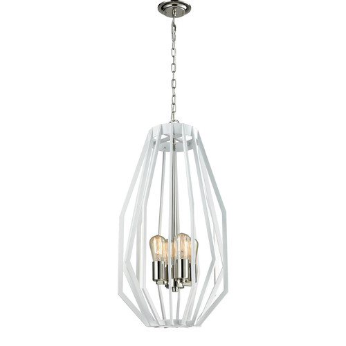 CLA Lighting Nickel Helm 4 Light Pendant