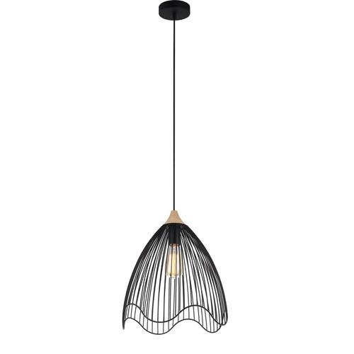 CLA Lighting Beck 1 Light Scandal Iron & Wood Pendant