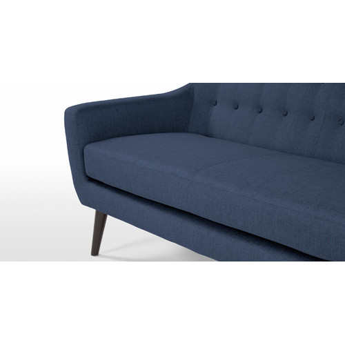 By Designs Blue Mid Century 3 Seater Sofa