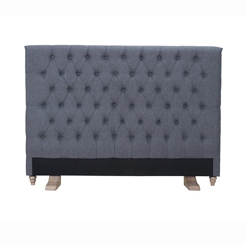 By Designs Archer Mid Grey Upholstered Bedhead