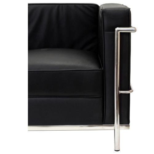 By Designs Le Corbusier Replica 3 Seater Faux Leather Sofa