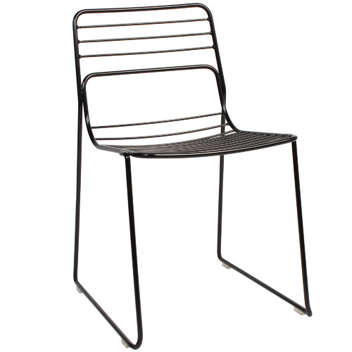 Bright Side Furniture Grid Steel Dining Chairs