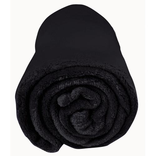 Bambury Microplush Throw Rug in Black