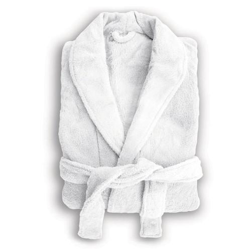 Bambury White Microplush Robe