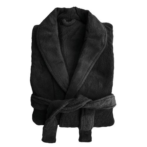 Bambury Microplush Robe in Black