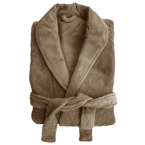 Bambury Microplush Robe in Oyster