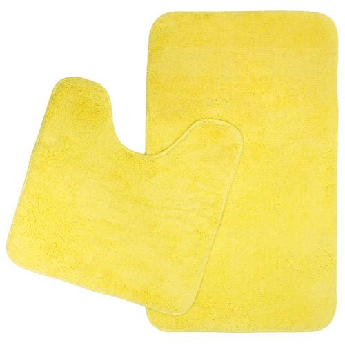 Retreat 2 Piece Microplush Bath Mat Set Lemon