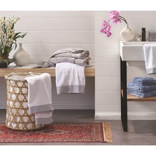 Bambury Cornflower Costa Cotton Bathroom Towels