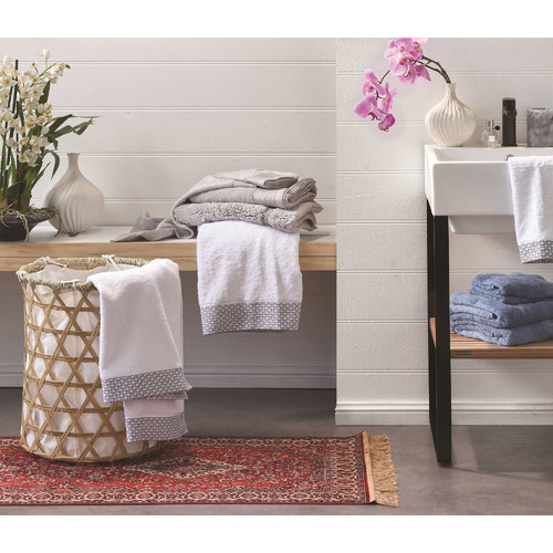 Bambury Silver Costa Cotton Bathroom Towels