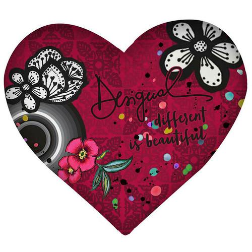 Desigual B&W Luxury Heart Cushion