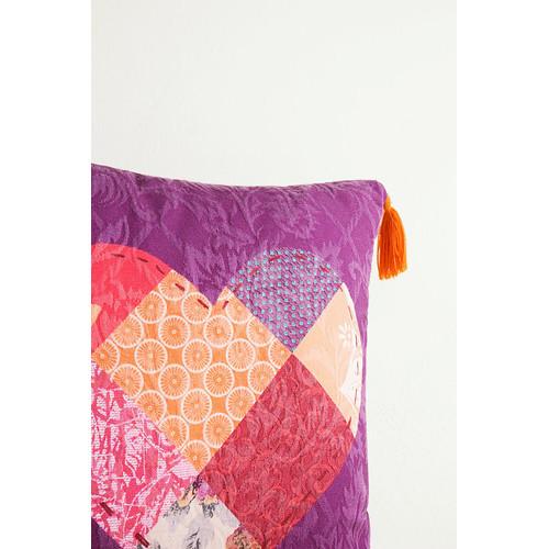 Romantic Patch Square Cushion