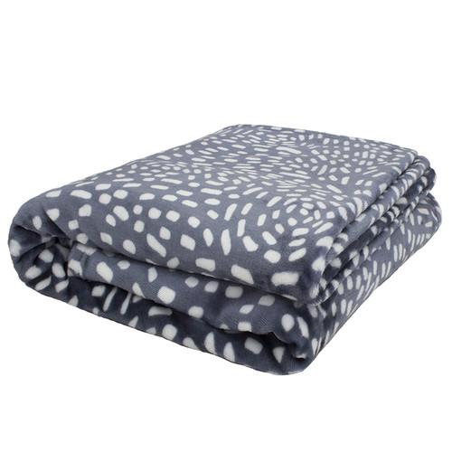 Bambury Slate Cosmos Ultraplush Blanket