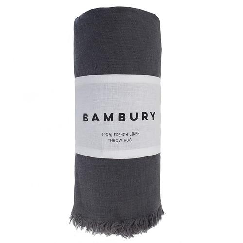 Bambury Everett Linen Throw Rug