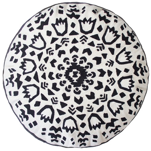 Bambury Monochrome Salta Round Cushion