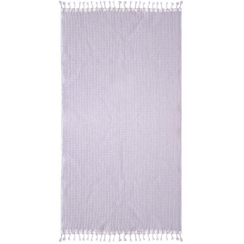 Lilac Waffle Cotton Towel