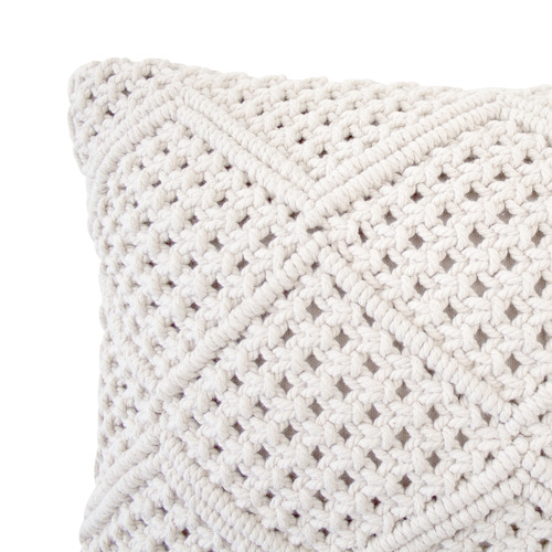 Bambury Ivory Anka Rectangular Cotton Cushion