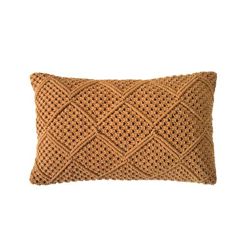 Bambury Turmeric Anka Rectangular Cotton Cushion