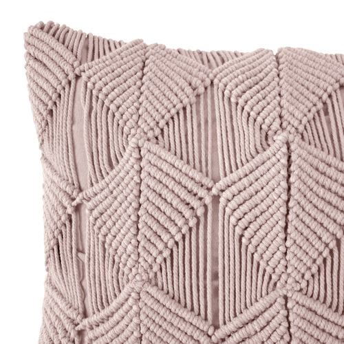 Bambury Rosewater Pebble Vega Cotton Cushion