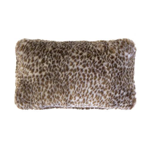 Bambury Leopard Rectangular Faux Fur Cushion