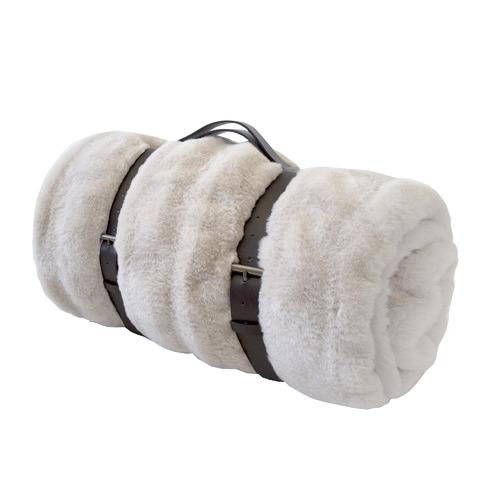 Ripple Faux Fur Throw