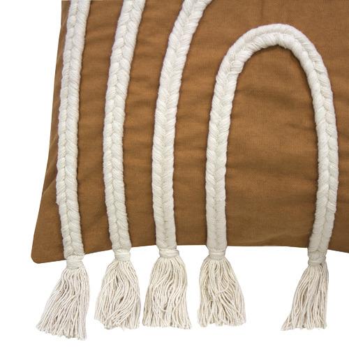 Brown Arc Square Cotton Cushion