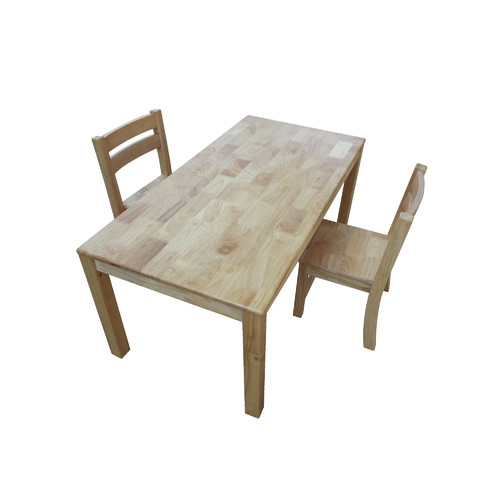 Merveilleux Q Toys Rubber Wood Rectangular Table With 2 Stacking Chairs