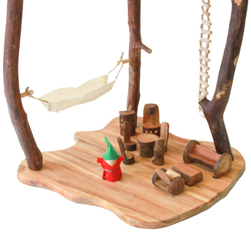 Q Toys 23 Piece Wooden Jungle Tree House Play Set