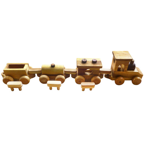 Q Toys Wooden Cargo Train Toy