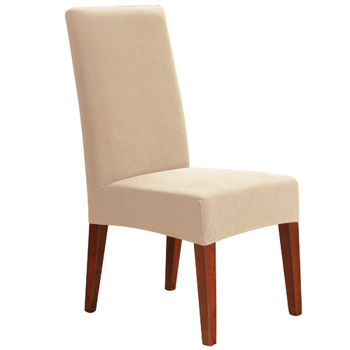 Fitted Dining Room Chair Covers: Ivory Stretch Pearson Dining Chair Cover