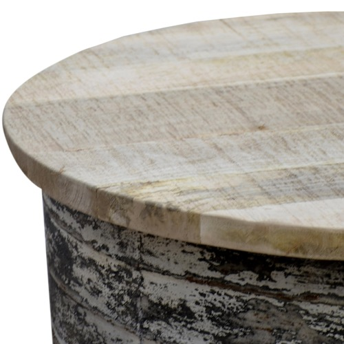 White Wash Industrial Coffee Table