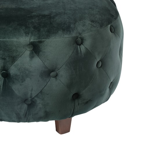 The Decor Store Large Green Button Tufted Ottoman