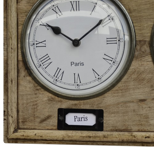 The Decor Store Harmi Timber World Clock