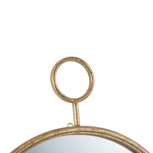 The Decor Store Time Piece Round Iron Wall Mirror