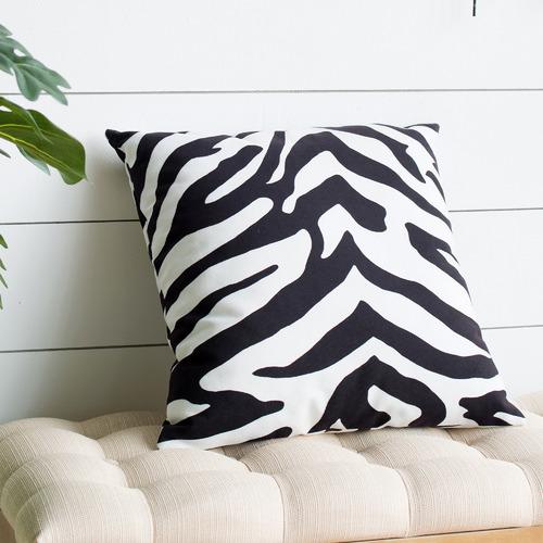 The Decor Store Monique Zebra Print Velvet Cushion