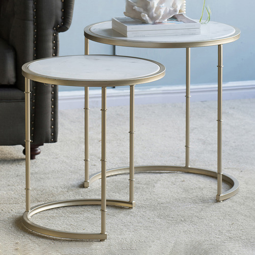 The Decor Store Assorted Set Of 2 Eclipse Marble Tables