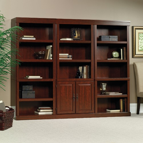 Sauder Classic Cherry Heritage Hill Library Cabinet