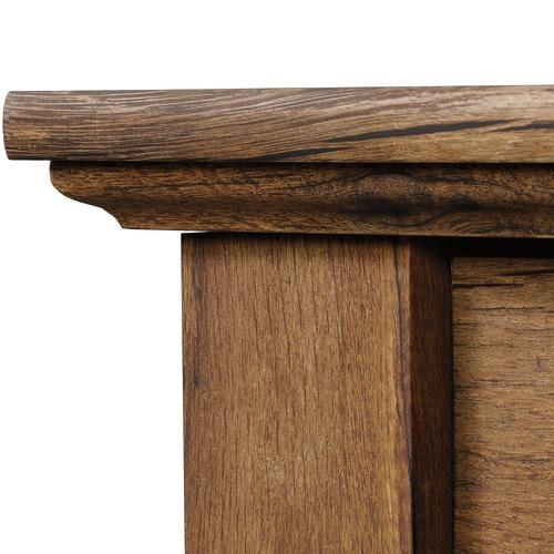 Sauder Vintage Oak Palladia Executive Desk