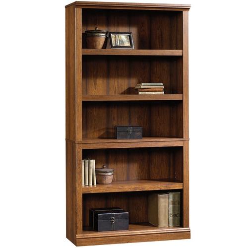 Sauder Cherry Washington 5 Shelf Bookcase