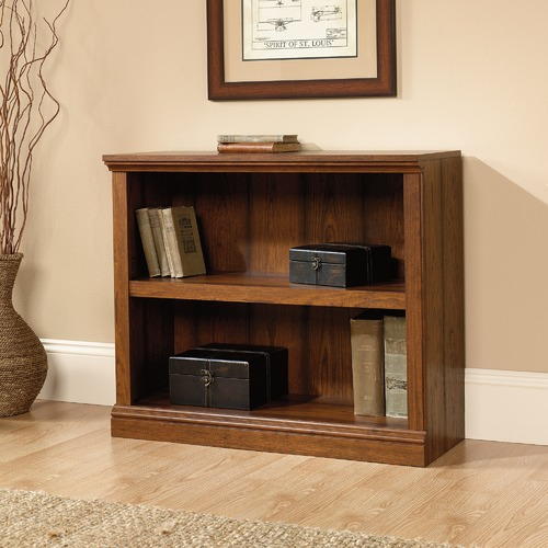 Sauder Cherry Washington Double Shelf Bookcase