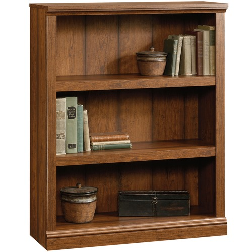 Sauder Cherry Washington Triple Shelf Bookcase