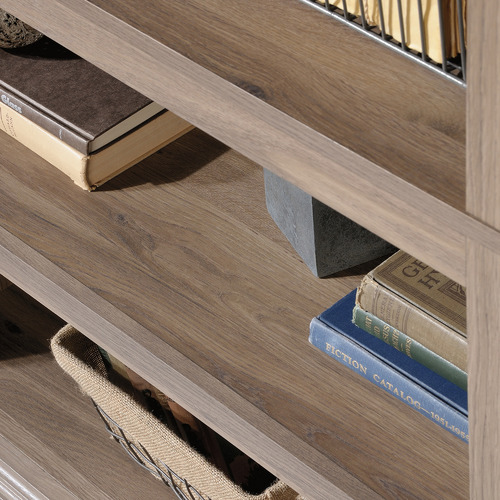 Sauder Salt-Finish Noomi 5 Shelf Bookcase