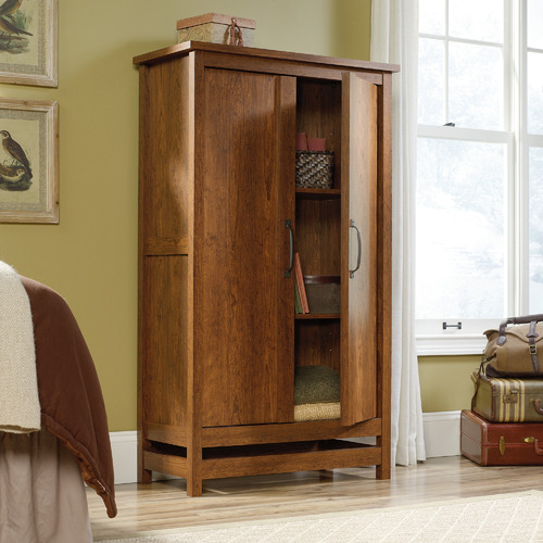 Sauder Milled Cherry Cannery Bridge Storage Cabinet