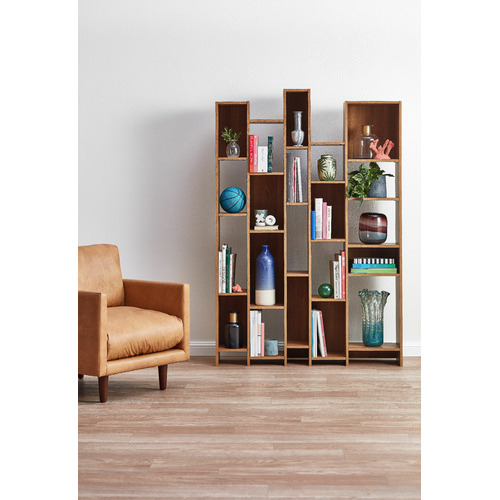 Sauder Pale Oak Soft Modern Wall Shelf