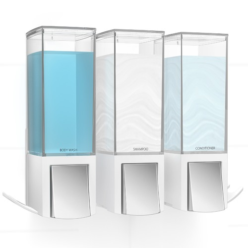 Fountain Bathware Clever Triple Shower Dispenser