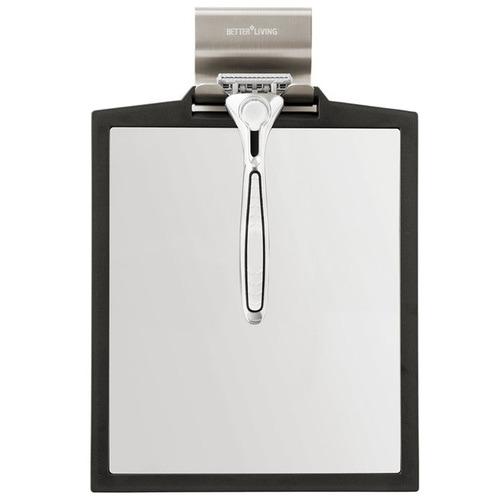 Fountain Bathware Black Doppio Double Sided Shower Mirror